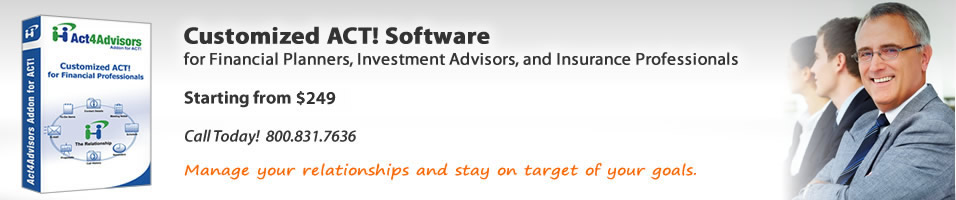 Act4Advisors Contact and Client Relationship Management software for Financial